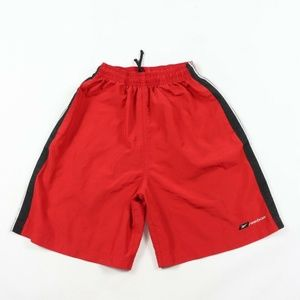 Vintage Reebok Spell Out Athletic Shorts Red Small